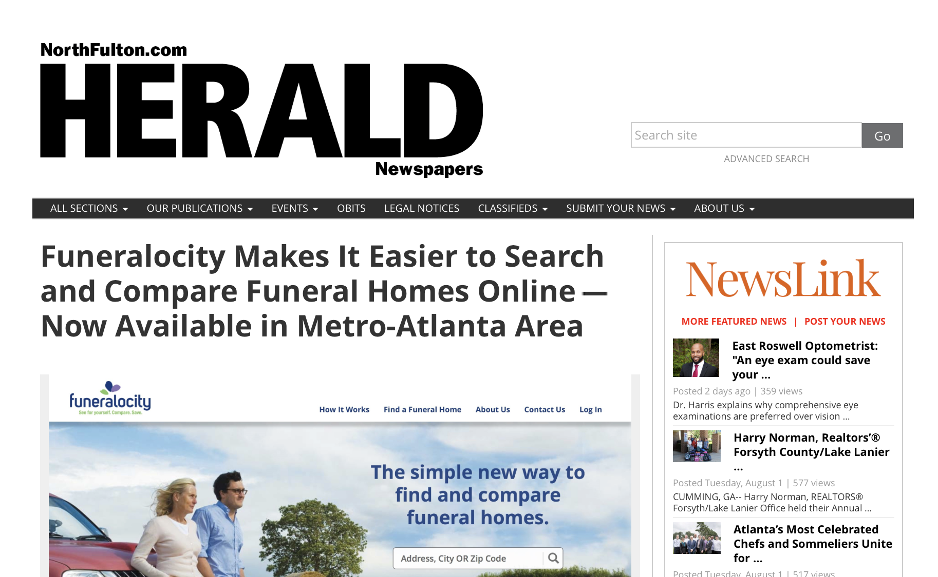 Funeralocity Makes It Easier to Search and Compare Funeral Homes Prices Online