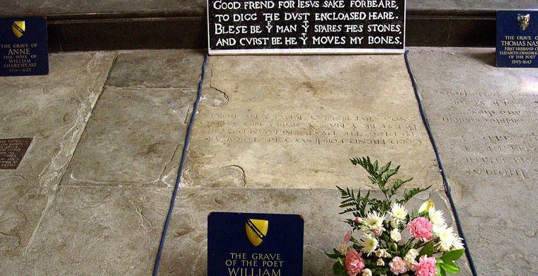 William Shakespeare Grave Site
