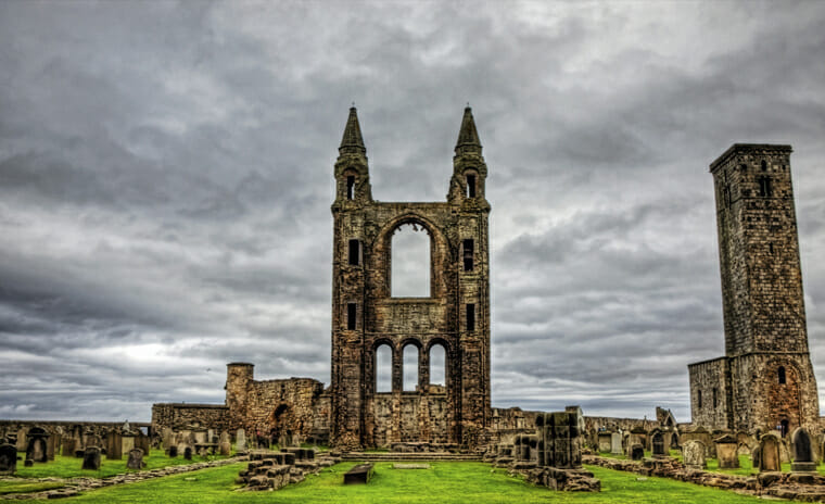 St. Andrews Cathedral Burial Ground, Scotland